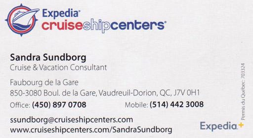 Cruise Ship Centers - Sandra Sundborg