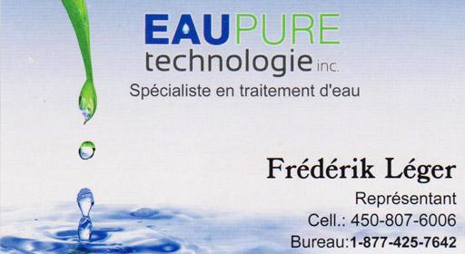 Eau Pure Technologie - Frédérik Léger